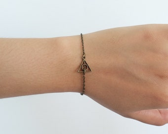 Antique bronze triangle charm, friendship bracelet, adorable gift,  Gift