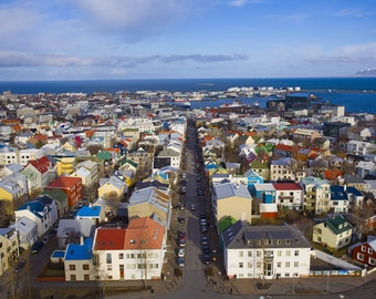 Reykjavík Printable Picture | Iceland | Travel Photography | Instant Download | Desktop Background