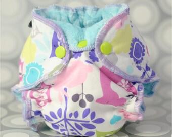 PDF Cloth Diaper Sewing Pattern - Newborn Hybrid Fitted Cloth Diaper