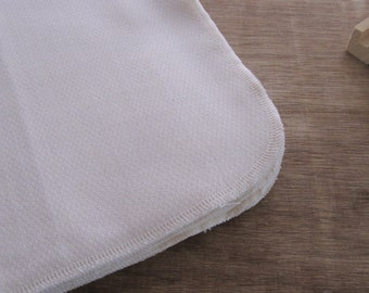 Unpaper Towel Organic Double Layered Birdseye Cotton Unbleached Eco Friendly -- Set of 12