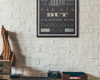 Beer Poster Typographic Print Kitchen Art Beer Quote Poster Beer Art