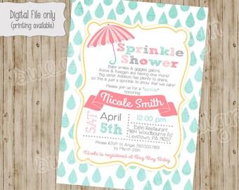Baby Shower Invitation, Baby Sprinkle Invitation, Sprinkle Baby Shower Invitation, Sprinkle Shower