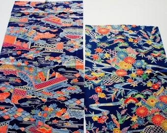 Vintage Japanese Silk Kimono Fabric | Patchwork Lot 148