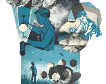 The Man in the Sky Print