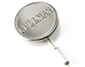 Vintage Hat Pin - Lapel Pin - Tie Tack - Brooch - Pullman Button - Silver, Men's Vintage Wedding Fathers Day Gift