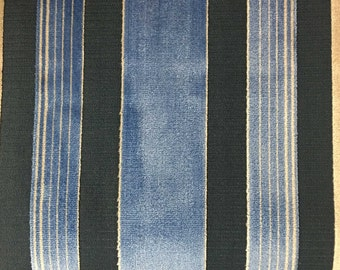 Upholstery Fabric - Richmond - Indigo - Cut Velvet Home Decor Upholstery & Drapery Fabric by the Yard - Available in 12 Colors