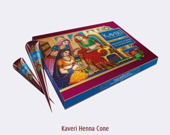 Natural Herbal Henna Cones Temporary Tattoo Body Art 12 Pcs Kaveri Mehandi Cone, Ready to use Mehandi Cone, Henna tattoo kit