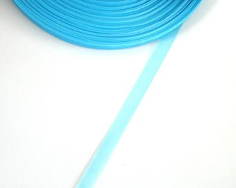 5 meters of 10 mm TURQUOISE organza Ribbon