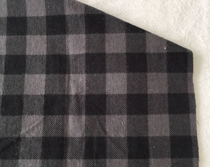 three pack black and grey buffalo plaid burp cloths