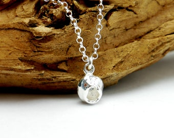 Sterling silver necklace with Nugget pendant
