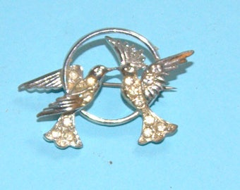 Art Deco brooch Is it two turtle doves on the second day of christmas