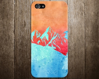 Snowcapped Mountains Sunset Phone Case, Ski, iPhone X, iPhone 7 Plus, Tough iPhone Case, Galaxy s9, Samsung Galaxy Case, Note 8, CASE ESCAPE