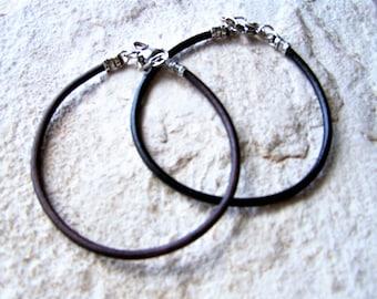 Single Leather Anklet, Mens Ankle Bracelet, Petite to Plus Size, Gift Idea