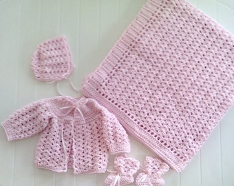 Welcome Home Crochet Baby Layette - Item CBJ011