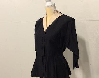 1940's Harford Frock Peplum Suit Jacket