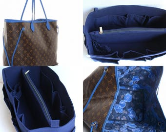Diaper Bag organizer insert -Extra Large Purse organizer for Louis Vuitton Neverfull GM in Blue