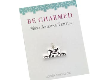 Mesa Temple, LDS Temples, Mesa Arizona Temple charms, LDS Wedding, Mormon temple charm bracelet, temple Necklace or temple keyring