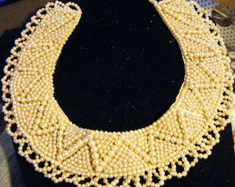 Antique Victorian Pearl Collar Choker or Necklace