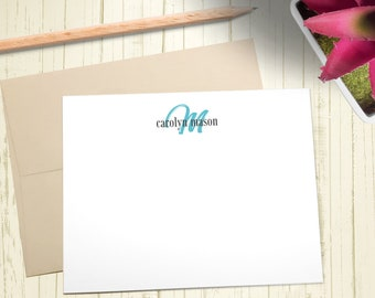 Personalized Stationary, Custom Stationery Set, Thank You Cards, Monogram Note Cards, A2 Note Cards With Envelope, Flat Note Cards, PS011