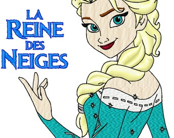 The ice Queen machine embroidery pattern