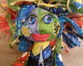 OOAK handmade cloth art doll