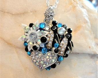 Penguin Heart Pendant Necklace