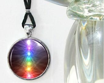 "Chakra Necklace, Reiki Jewelry Energy Pendant Necklace ""Chakra Balance"""
