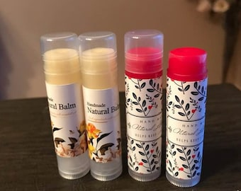 Tinted Color Lip balm(Pink Red) & All natural Lip Balm