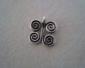 Silver coloured metal Butterfly charm