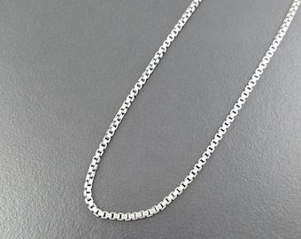 """Box Chain, sterling silver, silver chain, sterling chain, interchangeable chain, 18"""" chain, 20"""" chain, thick sterling silver chain, silver"""