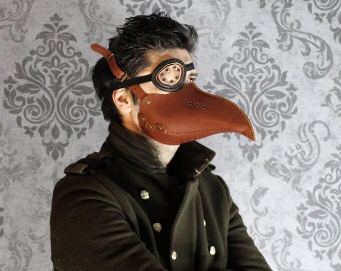 Plague Doctor Mask -  Steampunk Mask - Leather Mask - beak LARP - Cosplay Costume