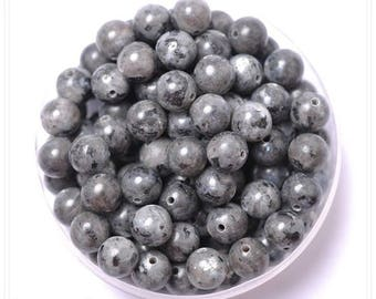10pcs - choices: 4mm / 6mm / 8mm / 10mm Labradorite bead semi precious grey blue black Perle labradorite 6 mm Labradorite 8 mm