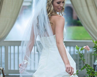 Traditional Wedding Veil, Classic Bridal Veil, Wedding Veil