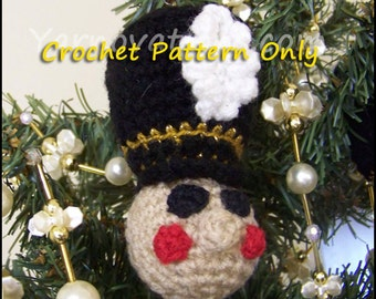 Nutcracker & Friends Christmas Ball Christmas Ornament - Crochet Pattern Toy Soldier