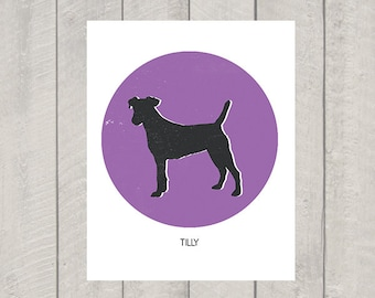 Jack Russell Art Print - Custom Name - Dog Art