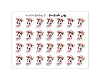 Planner Girl Beach Day Planner Stickers,Matte Glossy, Sticker Sale – 3393