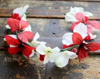 Faeries A Flight Flower & Butterfly Crown - Wreath - Tiara - Headband - Costume - Wedding - Bridal - Prom