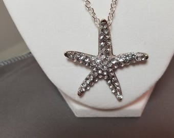 N8-18 starfish pendant and chain