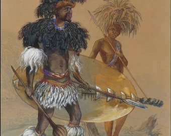 African Warrior Art and Photography - 40 Trading Cards Book Set