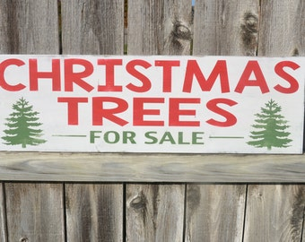 Fixer Upper. Christmas Trees For Sale Sign. Christmas Decor. Farmhouse. Painted sign.**READY TO SHIP*