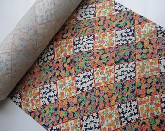 Japanese vintage silk kimono fabric - Available by the metre - Multicoloured