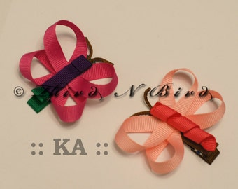 Butterfly & Dragonfly Hair Clip Ribbon Sculpture Instruction Set