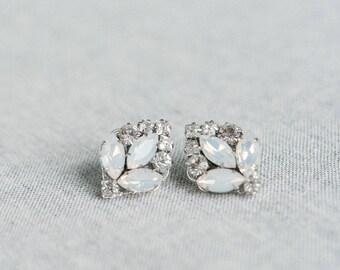 Bridal Earrings Vintage, Bridal Earrings Studs, Crystal Earrings, Art Deco Wedding Earrings