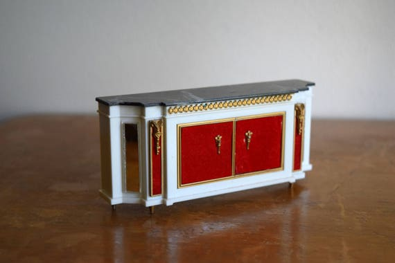 Vintage Petite Princess Ideal Dollhouse Royal Buffet Cabinet - Miniatures, Fairy House, Mid Century