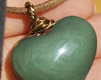 Shaman Stone - Magical Rainbow Mexican Obsidian Heart Pendant