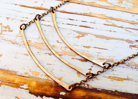 Brass Ladder Necklace