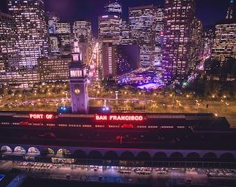 San Francisco, Embarcadero, Ferry building, Landscape, Cityscape, Long exposure photograph