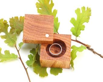 Wood Ring Box | Heirloom Ring Box | Oak | Engagement & Wedding | Anniversary Gift | Modern Ring Box