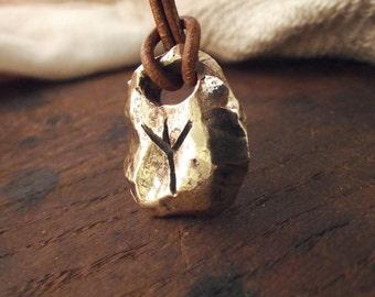 Choose your rune !! Viking inspired bronze pendant  runes !!