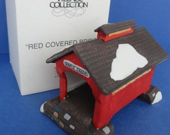 Dept 56 Red Covered Bridge NEV Accessory